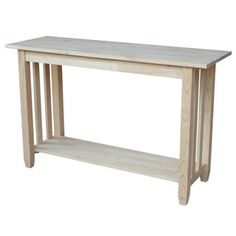 Unfinished Solid Parawood Mission Console/ Sofa Table - Overstock™ Shopping - Great Deals on Coffee, Sofa & End Tables