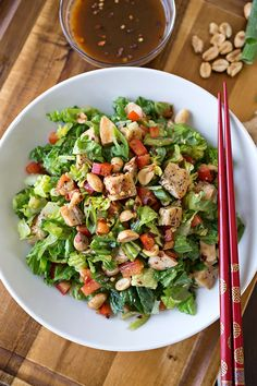 [Kung Pao Chicken Chopped Salad] + Click For Recipe! #easy #recipes #asian #chinese