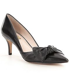 Louise Et Cie Adelena Bow Detail Leather D´Orsay Pumps