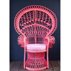 Beautiful pink peacock chair designed by two talented sisters @millyandeugene they have amazing pieces #pink#peacock#millyandeugene#interiors#pinkchair#chair#homes#homedecor#furniture