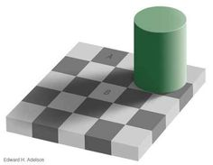 The squares marked A and B are the same shade of gray. | 23 Totally Mind-Shattering Optical Illusions