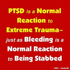 PTSD is a Normal Reaction to Extreme Trauma(Fragmented Soul, Soul-loss)