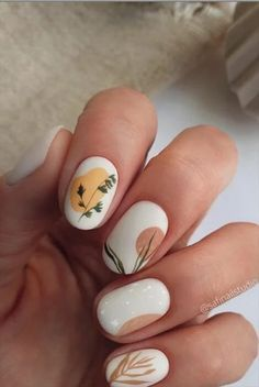 Nail Art Cute, Cute Acrylic Nails, Gel Nails, Matte Nail Art, Nail Drawing, Lavender Nails, Nagellack Design, Flower Nail Designs, Colorful Nail Designs