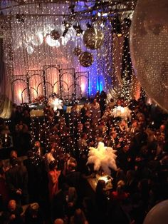 Decadence, fairy lights, feathers and glamour.