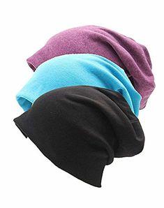 6e7fea9d8 Luccy K Unisex Indoors 100% Cotton Beanie- Soft Sleep Cap for Hairloss  Cancer