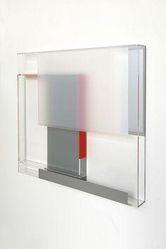 Maria Dukers: 'sans titre', 2009 Plexiglas, adhesive PVC tape