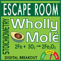 "Your Chemistry students will LOVE this collaborative, hands-on activity. There are multiple questions and puzzle solutions that REQUIRE CONTENT KNOWLEDGE in addition to unique & fun ""escape room thinking."" Perfect for MOLE DAY (October Chemistry Projects, High School Chemistry, Chemistry Lessons, Teaching Chemistry, Chemistry Labs, Science Chemistry, Middle School Science, Physical Science, Science Lessons"