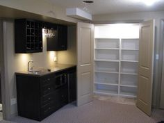 Corner Wet Bar Designs | Wet Bar U0026 Shelves