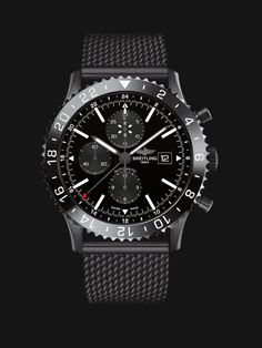 Die Chronoliner ist die Uhr für Flugkapitäne schlechthin. Auf der Keramiklünette wird eine zweite Zeitzone über 24 Stunden angezeigt.
