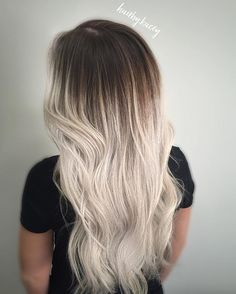 Chocolate & Vanilla! Deep shadow root with platinum. Roots, Kadus 5N and 8PA. Ends, toned with Redken Shades 9V, 9P, 9N with clear.