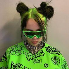 Neon Green Hair, Green Hair Colors, Videos Instagram, Instagram Slime, Instagram Posts, Instagram Makeup, Peinados Pin Up, Grunge Hair, Hair Hacks