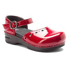Dansko: Jamie Patent (Cherry) This little Dansko Clog in cherry red is the height of fashion for any little girl who loves to step out in style! Girls Red Shoes, Ladies Shoes, Flower Girl Shoes, Childrens Shoes, Shoe Shop, Clogs, Dress Shoes, Sneakers, Cherry Red