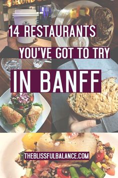 14 Restaurants You've Got to Try in Banff   the blissful balance
