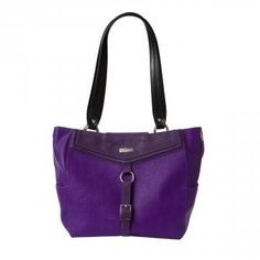 With her perfect combination of romance and playfulness, you're sure to fall in love with the Tristan for Demi MICHE bags. Textured faux leather in deep orchid features a smooth angled collar in even deeper royal purple. Front strap with buckle detailing along with a roomy zippered pocket on the back finish this fabulous look. Silver hardware; rectangular bottom; side pockets. *Miche Canada* #michecanada #michefashion #fashion #style #purses #handbags #accessories