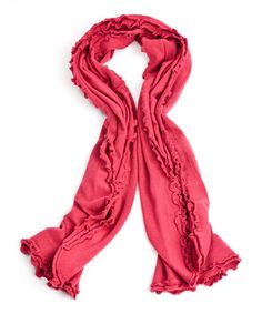 Take a look at this Claret Cashmere & Wool Lettuce Edge Scarf by A & R Cashmere on #zulily today!