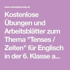 zeiten bestimmen deutsch arbeitsblätter