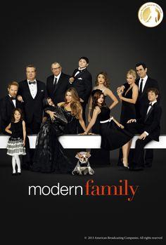 """""""Modern Family"""" Best Comedy TV Serie #Nominee - #USA - #GoldenNymph - 20TH Century Fox Television Distribution Nommé dans la catégorie Meilleure Série TV-Comédie pour les Nymphes d'or"""