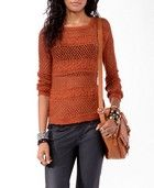 Longline Crochet Sweater