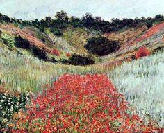 """""""Campo de Amapolas en Giverny"""" #Monet - 1885 #Giverny"""