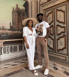 "Beauty Vlogger Ronke Raji Adeola took a baecation with her husband Banji to Miami, Florida. Ronke is soaking the sun on their ""baby-m. Black Love Couples, Cute Couples Goals, Matching Couple Outfits, Matching Couples, Couple Style, Couple Noir, Black Relationship Goals, Baby Bump Style, Stylish Couple"