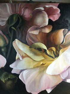 PARADISO detail oil on linen Diana Watson painting