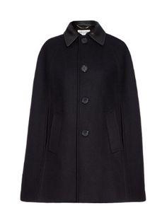 Leather-collared+cape+|+Saint+Laurent+|+MATCHESFASHION.COM+UK