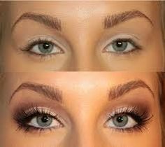 Tutorial for bigger eyes. Pretty eye make up for the big day:) Kiss Makeup, Love Makeup, Makeup Tips, Makeup Looks, Hair Makeup, Gorgeous Makeup, Makeup Ideas, Pretty Makeup, Simple Makeup