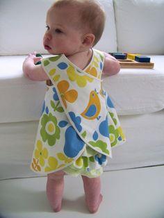 Baby and Toddler Pinafore Dress Sewing Pattern, PDF Tutorial (sizes 6m, 12m, 18m, 2-3T) EMMA Dress
