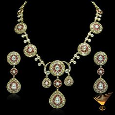 Magnificent necklace set in 22k gold with radiant rose cut diamonds.   To recall an unforgettable moment, the beauty of a glance.  This jewel is Playful spontaneity, shared pleasure between desire and lightness.    #vintage #bejeweled #heritage #culture #statement #royal #classy #jewelry #women #love #diamonds #rose #cut #ethereal #ruby #beautiful #lavish #luxury #timeless #antique #stylish #designer #glamour #necklace #