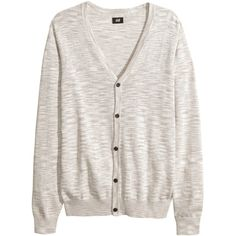 Cardigan 14.99 ($10) ❤ liked on Polyvore featuring tops, cardigans, sweaters, men, cardigan top, button cardigan, h&m cardigan and h&m tops