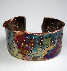 Copper Cuff by Deb Horvath, of Febra Rose Studio Designs. She has a shop full of Ah-MAY-zing!