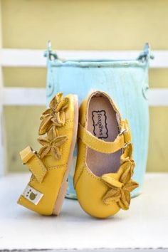 yellow leather girl shoes by foxpaws. obsessed!