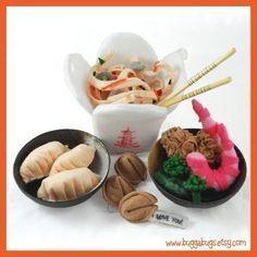 Chino se saca  PDF sentía alimentos patrón Chow Mein por BuggaBugs
