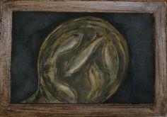 """""""Frying fish"""" Техніка: #деревяннаяпанель, #акрил  Розміри: 35x50  #живопис 2015 Опис: #woodpanel, #acrylic"""