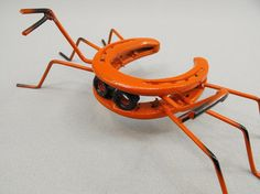 Metal Art Horseshoe Crab Yard Art Folk Art