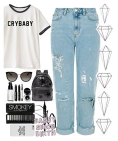 """""""Feelin' Rad"""" by summertime-sadness ❤ liked on Polyvore featuring STELLA McCARTNEY, Gucci, Bobbi Brown Cosmetics and Umbra"""