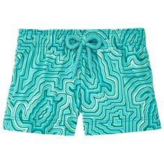 Chicas Shorty Estampado - Pantalón corto elástico con estampado Hypnotic Turtles para niña, Curazao front