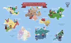 Mapa do Mundo redesenhado a partir de estereótipos culturais
