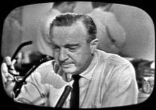 Walter Cronkite announcing the death of President Kennedy on November 22, 1963.   Life changed that day.