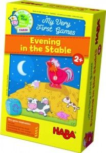 HABA's My Very First Games Evening in the Stable has kids trying to help Rooster Roy put the animals to bed. A great educational puzzle game for children. Preschool Board Games, Farm Games, Games W, Games For Kids, Games To Play, Childrens Board Games, Play Vehicles, Cooperative Games, Coq