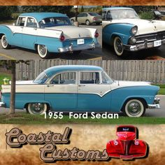 Project: 1955 Ford Sedan (Still in Progress) This car is Currently being resprayed. We can make your dream come true.  Photo: (Just restoration idea) #custom #investment #dreams