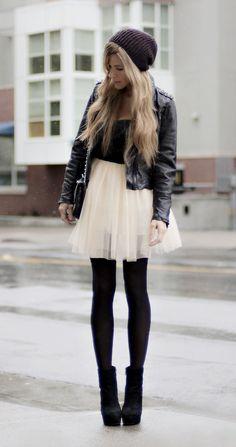 白スカート×タイツコーデ2015秋冬♥タイトもフレアも | 美人部