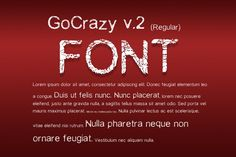 GoCrazy Font v.2. Sans Serif Fonts. $4.00