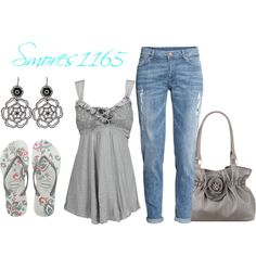"""Flip Flops"" by smores1165 on Polyvore"