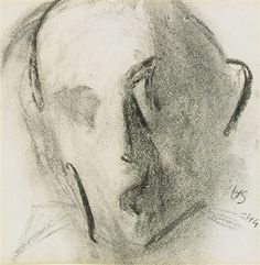 Helene Schjerfbeck - Self-portrait, 1944 Finland Helene Schjerfbeck, Helsinki, Sketchbook Drawings, Sketches, Female Painters, Nordic Art, Drawing Quotes, Montage Photo, Famous Art