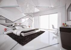 White Bedroom Design, White Bedroom Decor, Luxury Bedroom Design, Modern Master Bedroom, White Interior Design, Contemporary Bedroom, Bedroom Designs, Bedroom Ideas, Modern Bedrooms