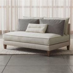 crate u0026 barrel asana armless loveseat cream crate and ba sofas for small