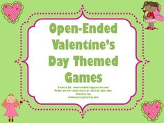 FREEBIE open ended Valentine's Day games for your therapy rooms!