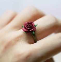 Paper Rose Ring by Sophine Giam
