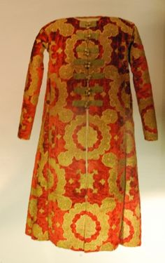 Caftan of Valachian Prince from 15 or 16th century is deposited in National Museum of Art, Bukurest. Source - Silk Gold Crimson, Buss, Silvana Editorial, 2009